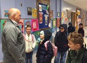 Jerry Pallotta Greets the Students