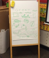 Mrs. Domingcil's art skills are top notch! Go Green!