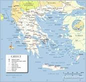 Greece (political) map