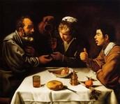Almuerzo de campesinos o Comida de pícaros, Diego Velázquez (1618)