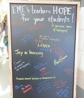 EME's teachers HOPE for YOUR students (children)!