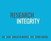 RESEARCH INTEGRITY CORNER