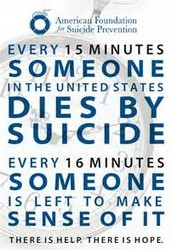3.	There is one death by suicide in the US every 13 minutes.