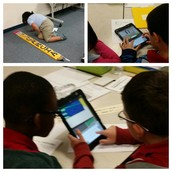 Students use Skitch to annotate their measurements.