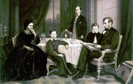 Abraham Lincoln with his family