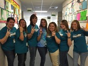 2nd Grade Teachers show their school spirit on Wildcat Wednesday