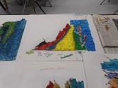 Hands on engaging: Salt map of Virginia regions in Georgia Estes class