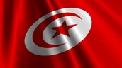 This is the red and white flag of Tunisia. The star and crescent looks similar to the Ottoman flag and is considered some of Tunisia's  history as a part of the Ottoman Empire.