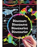 Hojas de diseño scratch art - Dinosaurios