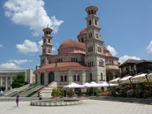 Orthodox Cathedral in Central Korce