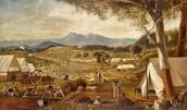Men on the goldfields