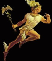 Hermes is most often presented as a graceful youth, wearing a winged hat and winged sandals