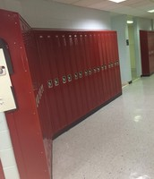 Red Lockers (8th grade hallway)
