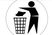 Throw ALL Trash Away In Trash Cans