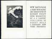 "His Pulitzer Prize winning poem book ""New Hampshire"""