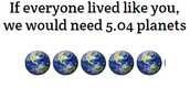 You're wondering what an Ecological Footprint is by now.