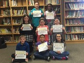 3rd, 4th and 5th Grade Student of the Month Winners!