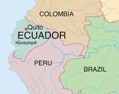 The map of the Ecuador