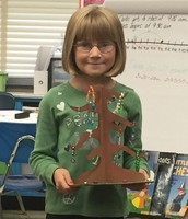 Elizabeth with her Tree Project