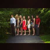 My friends and I at the 8th grade dance!
