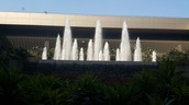 Fountain at Exit of Mumbai International Airport
