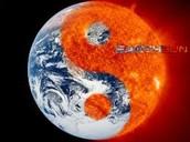 Earth in the sun