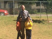 Mr. Mikkelson enjoying Recess with our KIPPsters
