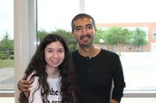 JSTEM student and her Dad at STEM Day