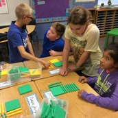 Collaborating to show division arrays
