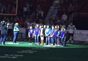 Hanawalt Choir sings the National Athem