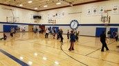 Lots of basketball during indoor recess