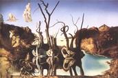 Cisnes Reflejando Elefantes (1937)