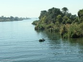 The Nile river up close
