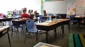 5th graders writing and sharing