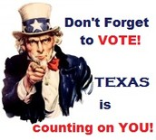 Don't forget to vote SAM HOUSTON