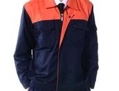 Smack Blue and Neon Orange Designer Jacket Uniform