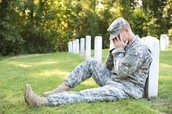 Many soldiers have to overcome PTSD.