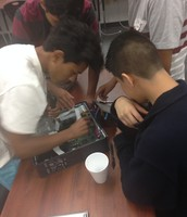 Maker Club Taking Apart Computers