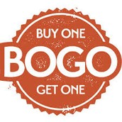 BOGO - Buy One Get One TODAY ONLY!
