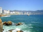 A beach of Acapulco.