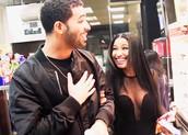 Nicki and Drake having fun
