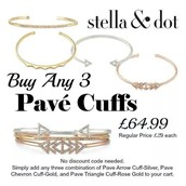 These 3 cuffs are truly gorgeous and mixing metals is right on trend this season.