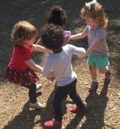 """I overheard Anndi say """"you make a little circle…"""" as she was explaining Ring Around The Rosie :-)"""