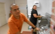 Jose & Martina washing dishes