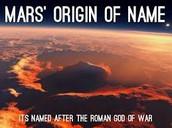Mars Name Origin