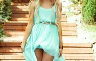 aqua blue! high -low dress