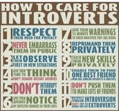 How to react and treat extroverts.