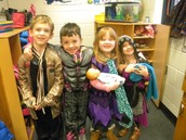 Jackson, Brady, Everlee and Ava in Dramatic Play