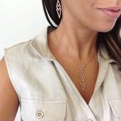 Pave Spear Pendant Necklace