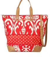Getaway Bag, Red Ikat--$45